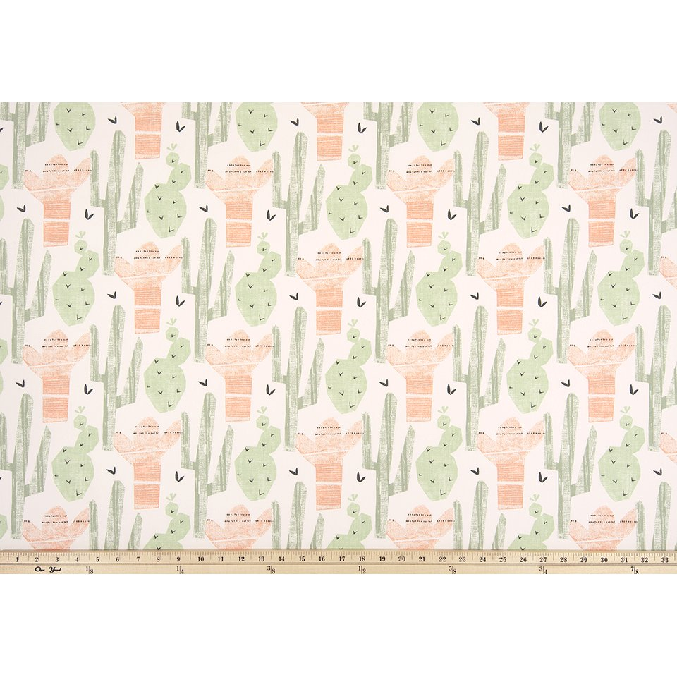 Curtain Panels Pair With Lining Cactus Fabric Print Jack And