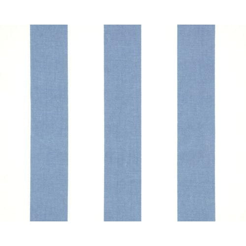 Curtain Panels Pair with Lining | Canopy Stripes Print-Curtain Panels-Powder Blue-Jack and Jill Boutique