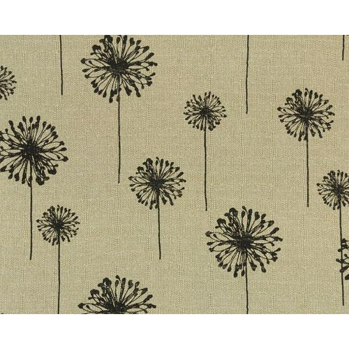Curtain Panels Pair with Lining | Dandelion Floral Print-Curtain Panels-Bold Bedding-Black/Denton-Jack and Jill Boutique