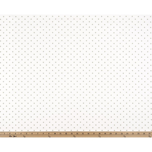 Curtain Panels Pair with Lining | Mini Dot Fabric Print-Curtain Panels-White/Snowy Grey Twill-Jack and Jill Boutique