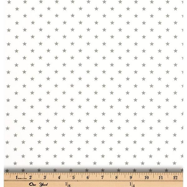Mini Star White/Storm Twill | Fabric Yard-Fabric-Jack and Jill Boutique
