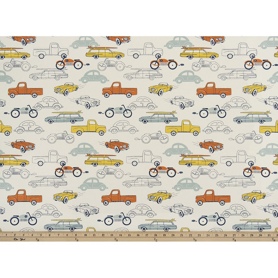 Curtain Panels Pair with Lining | Retro Rides Fabric Print-Curtain Panels-Formica Macon-Jack and Jill Boutique
