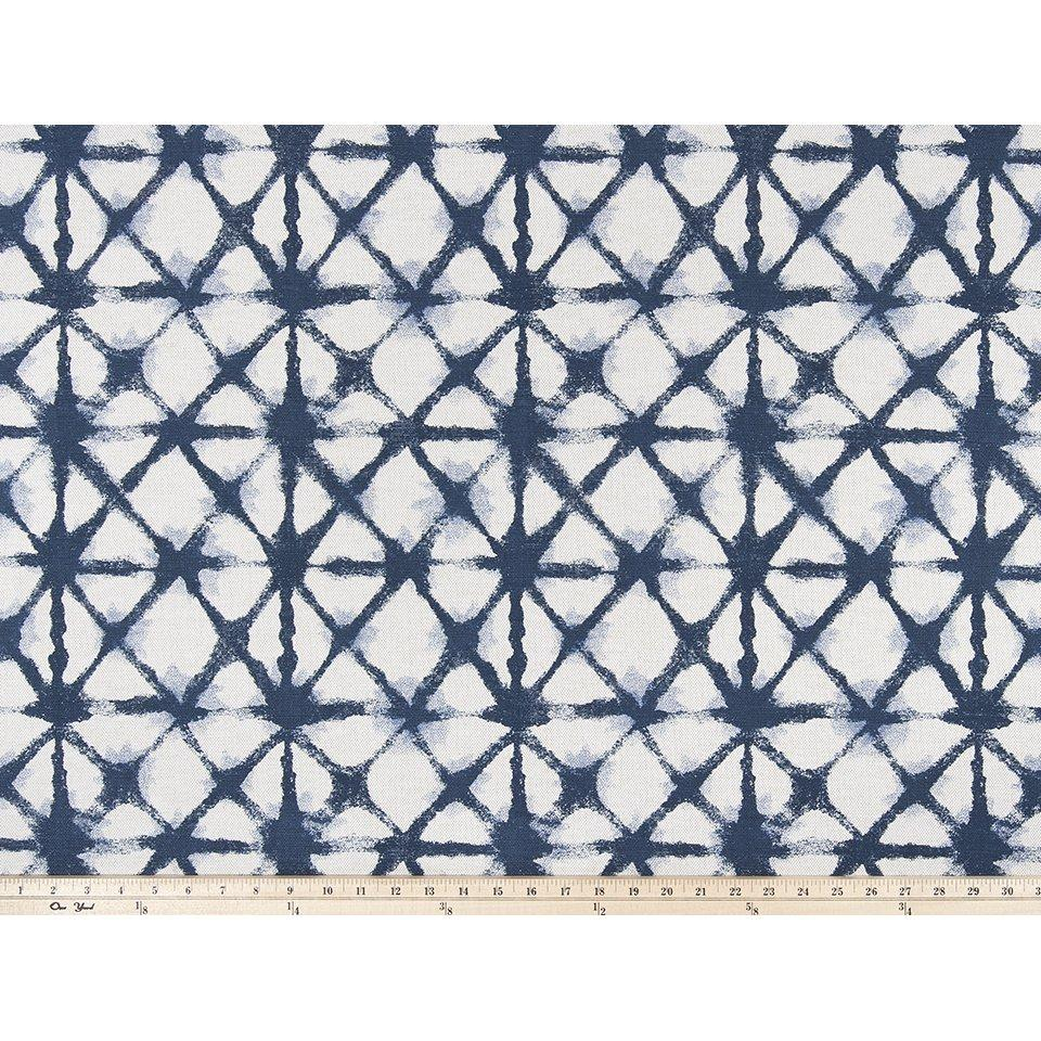 Curtain Panels Pair with Lining | Shibori-Net-Style Fabric Print-Curtain Panels-Ink Flax-Jack and Jill Boutique