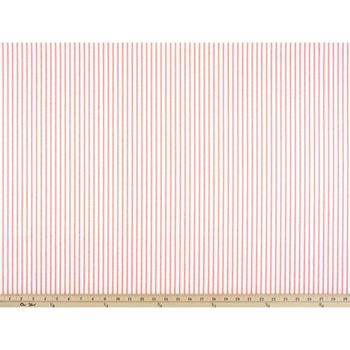 Curtain Panels Pair with Lining | Ticking Stripe Print-Curtain Panels-Classic Lipstick Twill-Jack and Jill Boutique