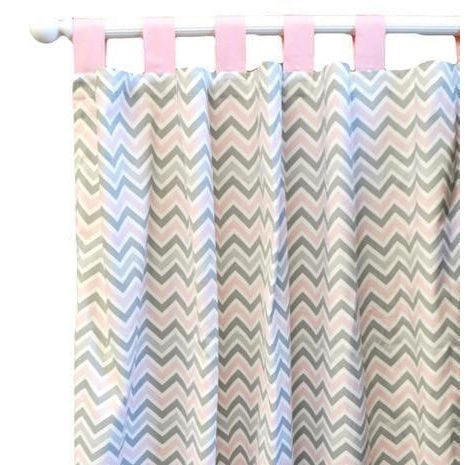 Curtain Panels | Peace, Love & Pink-Curtain Panels-Default-Jack and Jill Boutique
