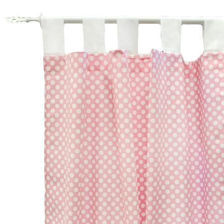 Curtain Panels | Pink Chevron Zig Zag Baby in Pink Sugar