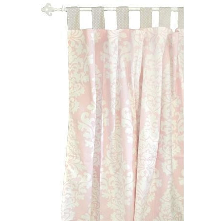 Curtain Panels | Pink Damask Cross My Heart-Curtain Panels-New Arrivals-Jack and Jill Boutique