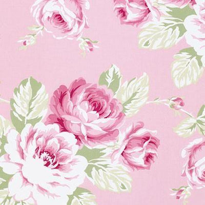 Curtain Panels Pair | Pink Floral Shabby Chic Roses-Curtain Panels-Jack and Jill Boutique