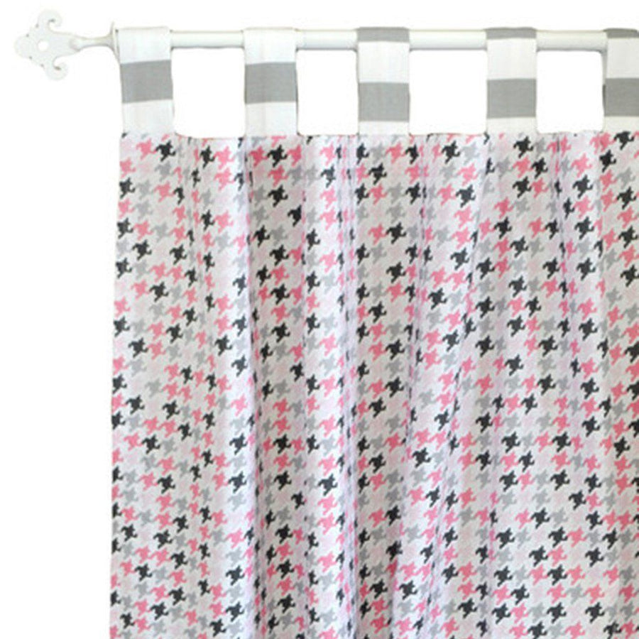 Curtain panels | Pink & Gray Paper Moon