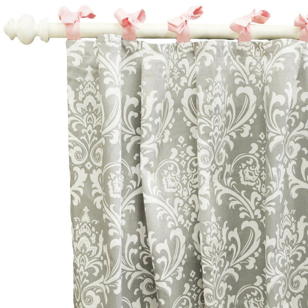 Curtain panels | Pink & Gray Stella Gray-Curtain Panels-Default-Jack and Jill Boutique
