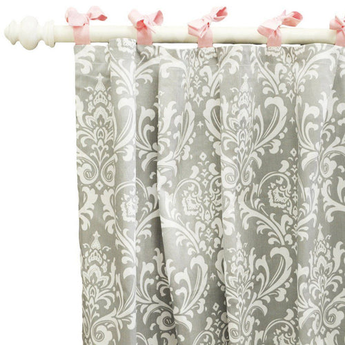 Curtain panels | Pink & Gray Stella Gray-Curtain Panels-New Arrivals-Jack and Jill Boutique