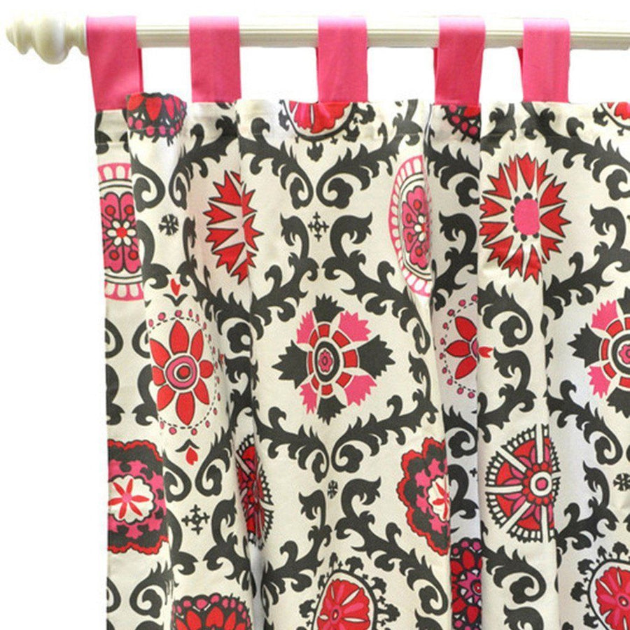 Curtain panels | Ragamuffin in Pink Pink and Gray