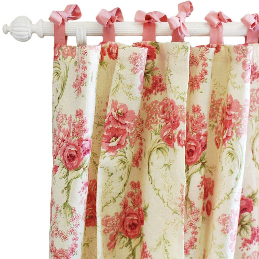 Curtain panels | Roses for Bella-Curtain Panels-Jack and Jill Boutique
