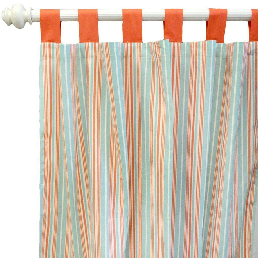 Curtain panels | Scout Mango and White-Curtain Panels-Default-Jack and Jill Boutique