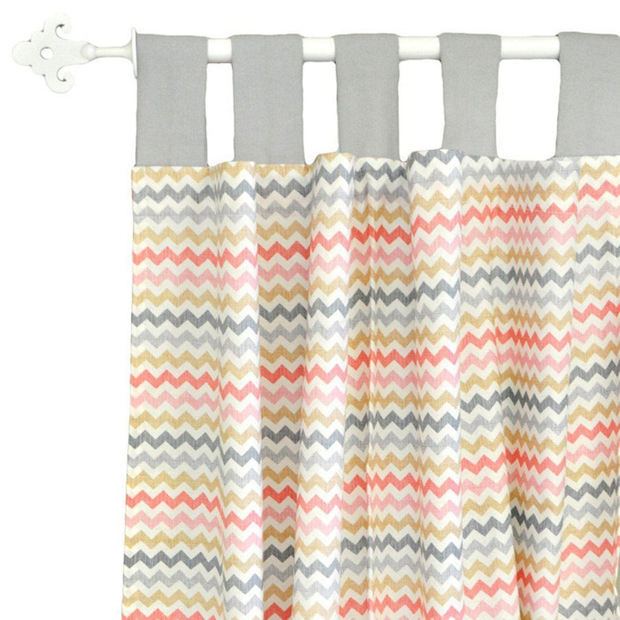 Curtain panels | Sophie Pink and Khaki