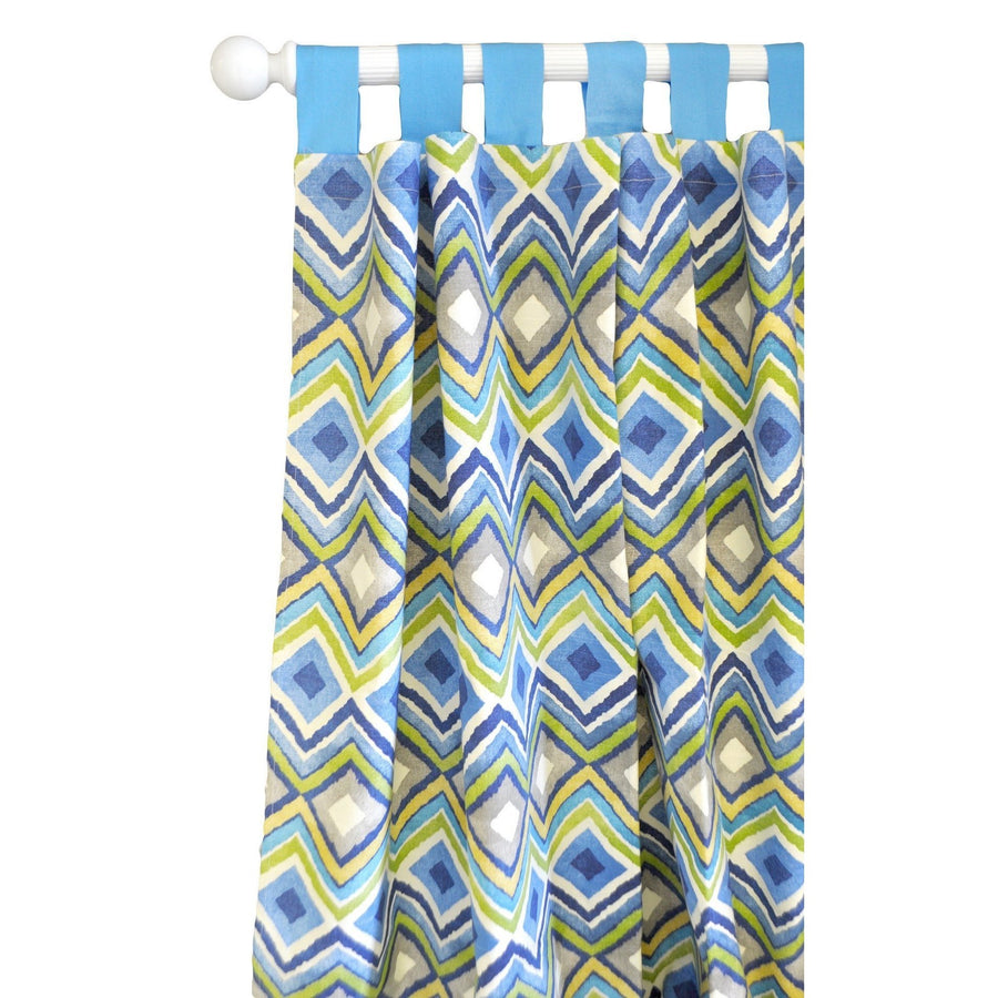 Curtain panels | Street of Dreams Blue and Yellow-Curtain Panels-Default-Jack and Jill Boutique