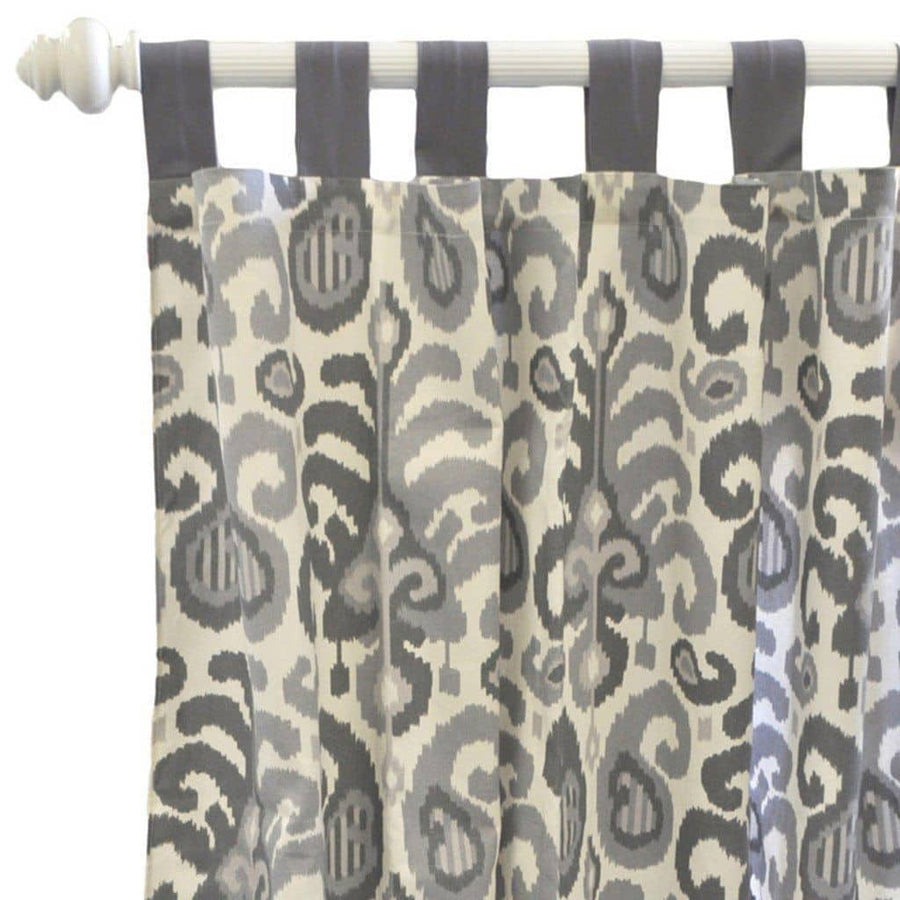 Curtain panels | Urban Ikat in Gray
