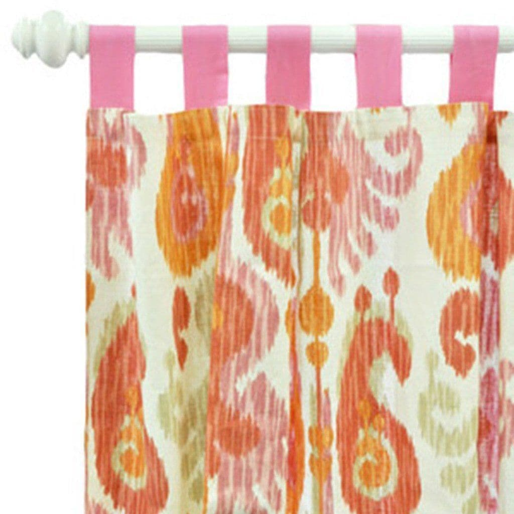 Curtain panels | Urban Ikat in Pink-Curtain Panels-Default-Jack and Jill Boutique