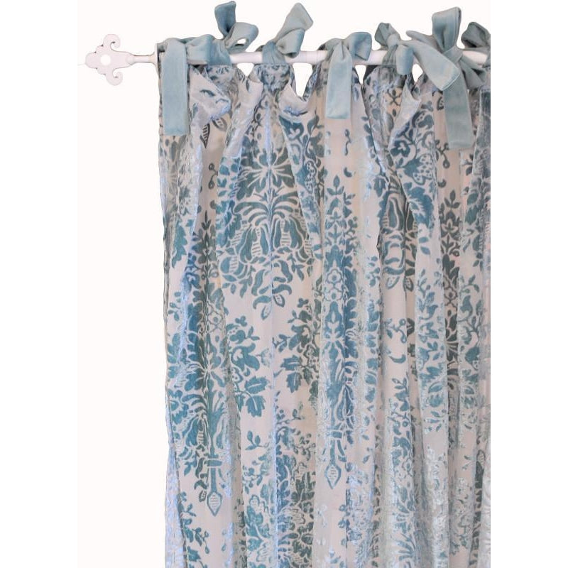 Curtain panels | Velvet Aqua Velvet Baby in Aqua-Curtain Panels-New Arrivals-Jack and Jill Boutique