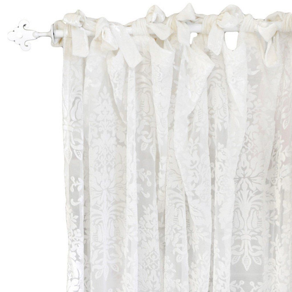 Curtain panels | Velvet Baby in Ivory-Curtain Panels-Default-Jack and Jill Boutique