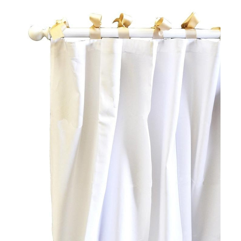 Curtain Panels | White Pique in Khaki-Curtain Panels-Default-Jack and Jill Boutique