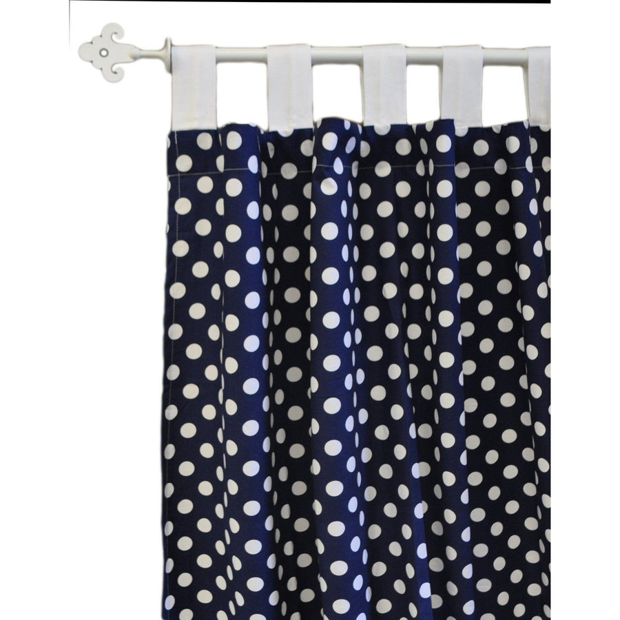Curtain panels | Zig Zag Baby in Navy-Curtain Panels-Default-Jack and Jill Boutique