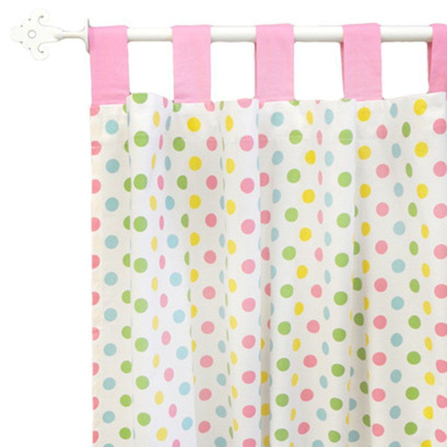 Curtain panels | Zig Zag Baby in Rainbow