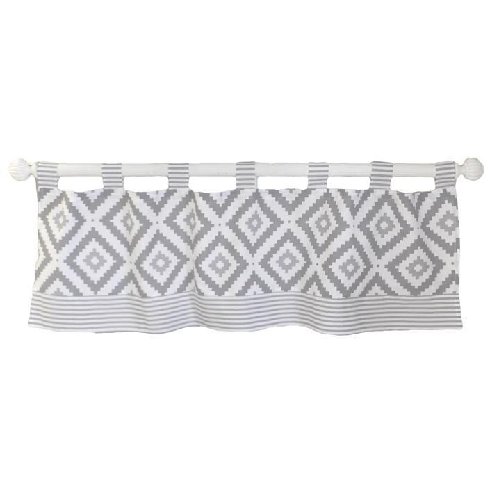 Curtain Valance | Gray Imagine Crib Baby Bedding Set-Curtain Valance-Jack and Jill Boutique