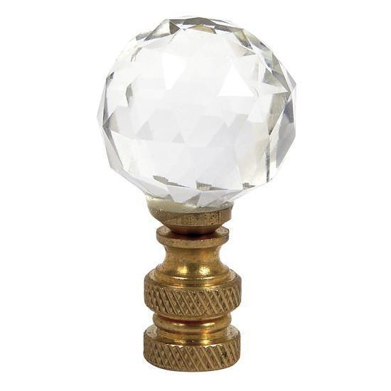 Cut Glass Finial - Round Shape - Clear-Finial-Default-Jack and Jill Boutique