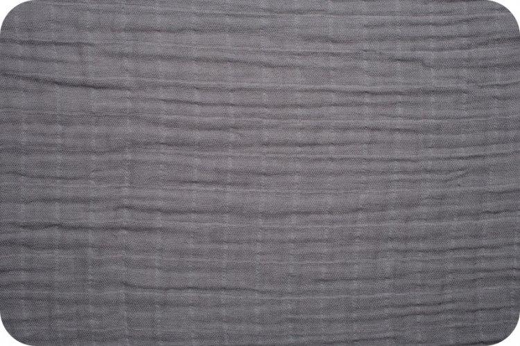 Solid Embrace Graphite | Double Gauze Cotton-Fabric-Jack and Jill Boutique