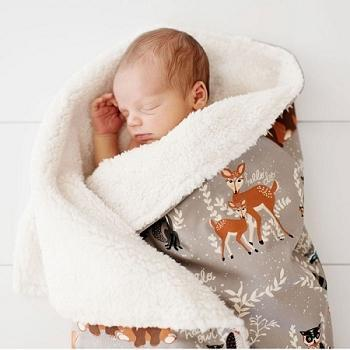 Blanket | Woodland Oh Hello Fog-Baby Blanket-Faux Fur-Jack and Jill Boutique