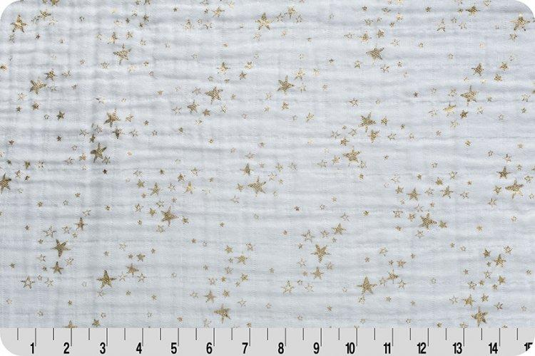 Starry Night Metallic Embrace® Gold | Double Gauze Cotton-Fabric-Jack and Jill Boutique
