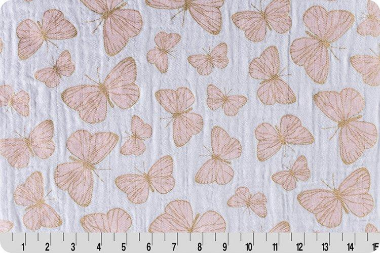 Flutter Metallic Embrace® Shell/Gold | Double Gauze Cotton-Fabric-Jack and Jill Boutique