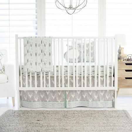 Deer Buck Forest in Mist Baby Bedding Set-Crib Bedding Set-Jack and Jill Boutique