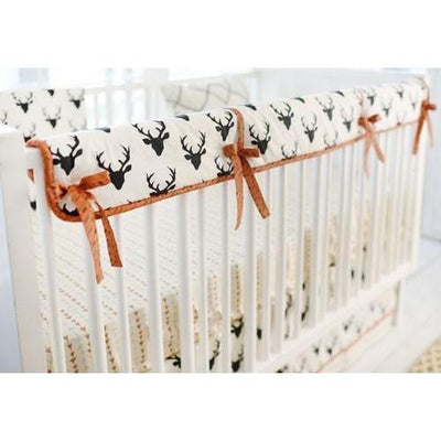 Deer Buck Forest in Night Baby Bedding Set-Crib Bedding Set-Default-Jack and Jill Boutique
