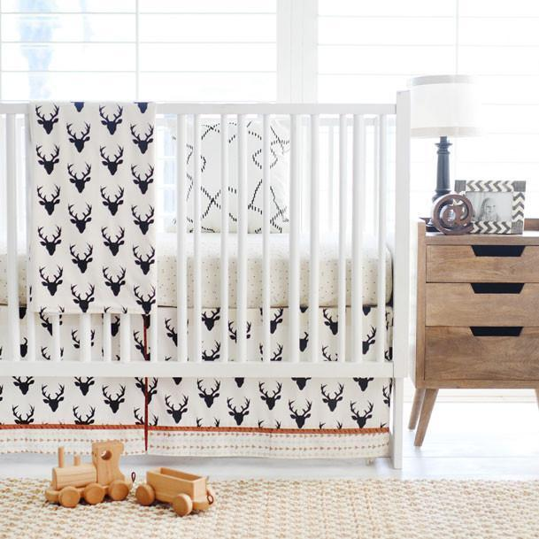 Deer Buck Forest in Night Baby Bedding Set-Crib Bedding Set-Jack and Jill Boutique