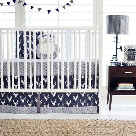 Deer Buck Forest in Twilight Baby Bedding Set-Crib Bedding Set-Jack and Jill Boutique