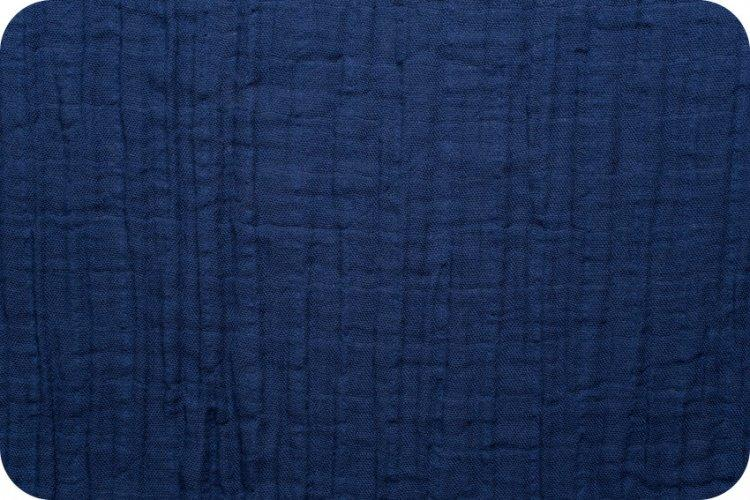 Solid Embrace Cobalt | Double Gauze Cotton-Fabric-Jack and Jill Boutique