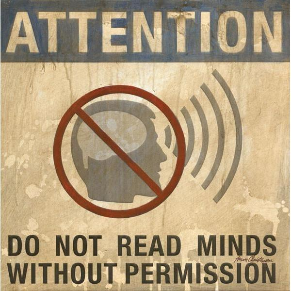 Do Not Read Minds without Permission | Superhero Art Collection | Canvas Art Prints-Canvas Wall Art-Jack and Jill Boutique