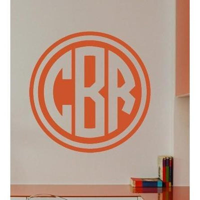 Double Circle Monogram Wall Decal-Decals-Jack and Jill Boutique