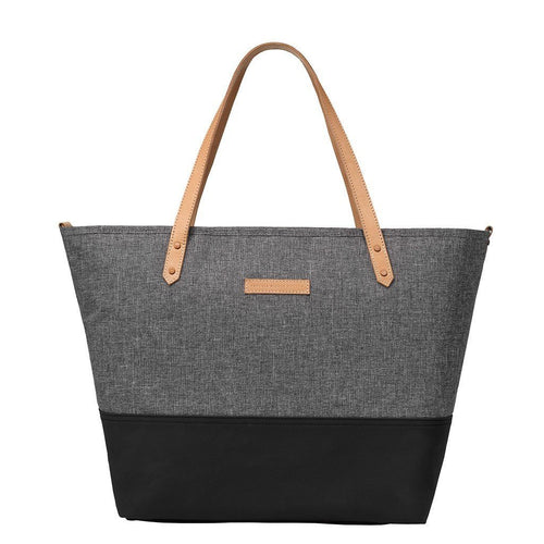 Downtown Tote Block Diaper Bags | Petunia Pickle Bottom-Diaper Bags-Graphite Black-Jack and Jill Boutique