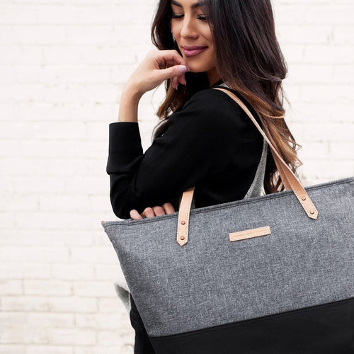 Downtown Tote Block Diaper Bags | Petunia Pickle Bottom-Diaper Bags-Jack and Jill Boutique