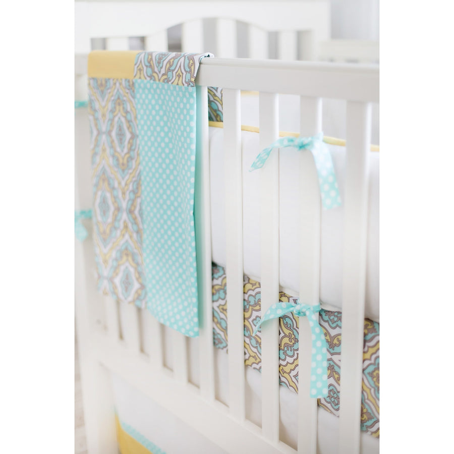 Dreamweaver Yellow and Aqua Baby Bedding Set-Crib Bedding Set-Default-Jack and Jill Boutique