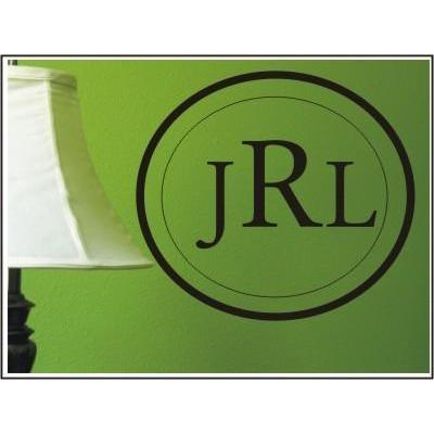 Elegance Monogram Wall Decal-Decals-Jack and Jill Boutique