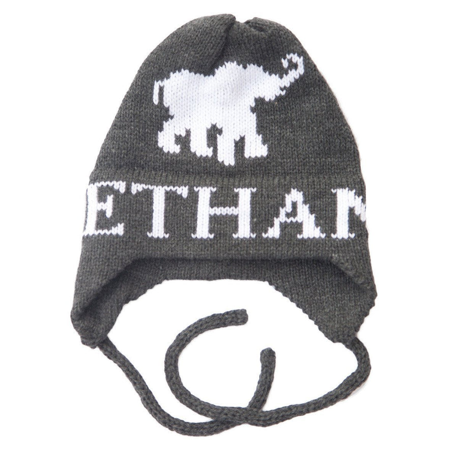 Elephant Personalized Knit Hat-Hats-Jack and Jill Boutique