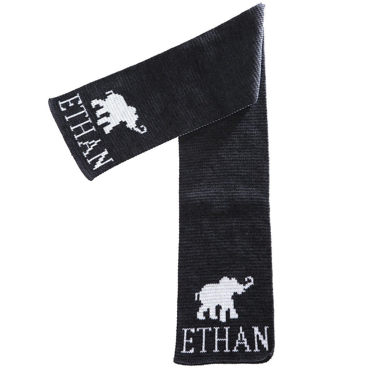 Elephant Personalized Knit Scarf-Scarves-Default-Jack and Jill Boutique