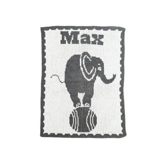 Elephant on Ball Personalized Stroller Blanket or Baby Blanket-Blankets-Jack and Jill Boutique