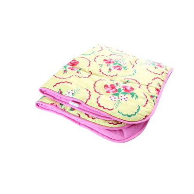 Emma's Yellow and Pink Floral Crib Comforter | Bold Bedding-Baby Blanket-Default-Jack and Jill Boutique