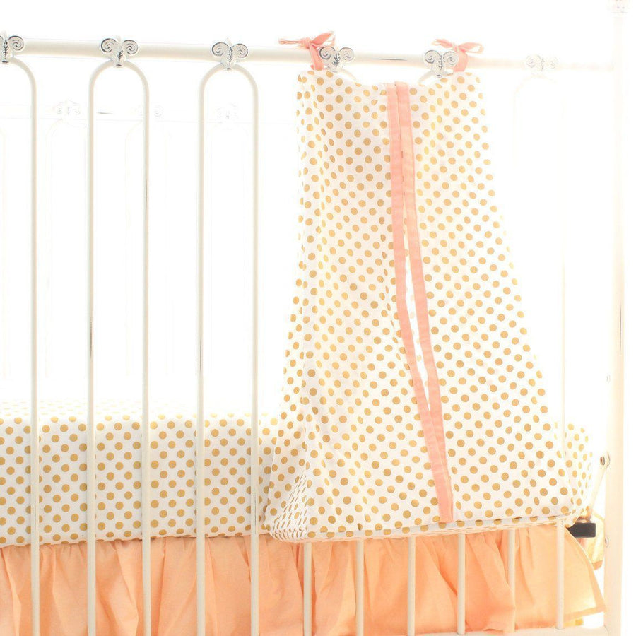 Emma's Yellow and Pink Floral Diaper Stacker | Bold Bedding