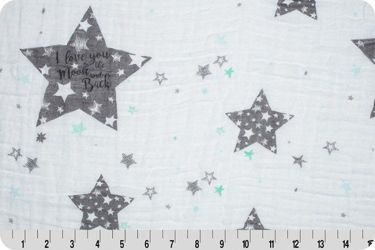 To The Moon Embrace® Steel | Double Gauze Cotton-Fabric-Jack and Jill Boutique